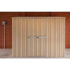 OTW-Shed Skillion Roof 2.25m x 0.75m Sgl Door Colour without Back Wall | Cheap Sheds