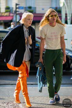 Lotta Volkova and Adrian John Hurtado by STYLEDUMONDE Street Style Fashion Photography