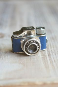 Vintage CMC Subminiature Camera  Blue  HitType by ThePerfectLight