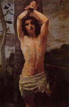 "Camille Corot ""The Martyrdom of Saint Sebastian"""