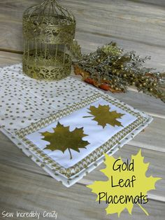 Sew Incredibly Crazy: Leaf Placemats Tutorial