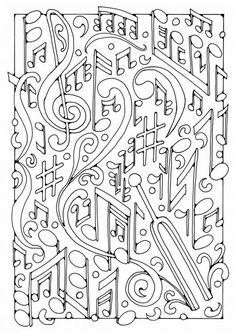 Malvorlage Musik. Bilder für Schule und Unterricht: Musik - Ausmalbild - Bild zum Ausmalen - Zeichnung. Abb. 19589.