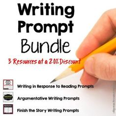 60 Writing Prompts for more than 20% off