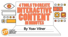 Static text doesn't garner the attention it once did. Your audience wants to be part of the action – answering quizzes, picking their favorites, and contributing their insight to your content. Here are four tools to get started Marketing Articles, Content Marketing Strategy, Marketing Tools, Internet Marketing, Digital Marketing, Marketing News, Marketing Software, Content Tools, Social Media Automation