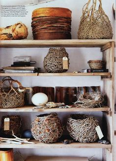 wow love those nest-looking baskets//