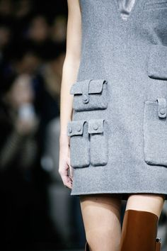 Unique pocket detailing at the Alexander Wang Aw14/15 RTW show!