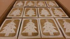 Vánoční přání z dýhy
