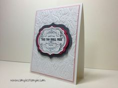 Layers simple card stampin up