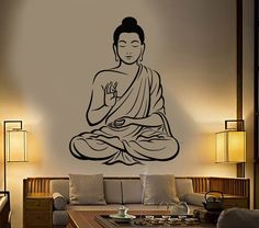 Buddha Wall Decal Buddhism Om Relaxation Zen Meditation Decor (z2667)