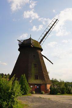 ZABYTKOWY DOLNY ŚLĄSK: JERZMANOWICE - wiatrak holenderski. (GPS - 51.2784 / 15.8878)