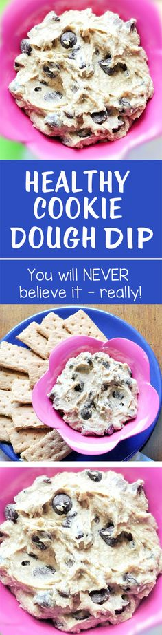 "This is the original version of the popular ""healthy cookie dough dip"" recipe or ""chickpea cookie dough dip"""