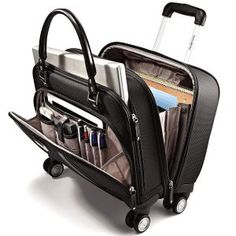 Shop Samsonite Business Women's Mobile Office Rolling Laptop Spinner Black at Best Buy. Find low everyday prices and buy online for delivery or in-store pick-up. Mobiles, Office Organization Tips, Rolling Bag, Mobile Office, Carry On Luggage, Travel Luggage, Vintage Luggage, Cool Things To Buy, Stuff To Buy
