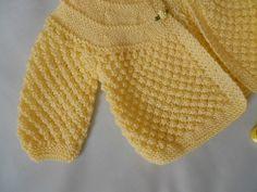Ravelry: carolaturner's Lemon Matinee Coat & Bonnet