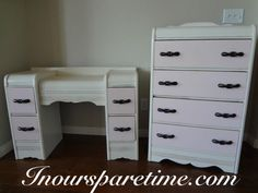 Antique waterfall dresser and vanity.