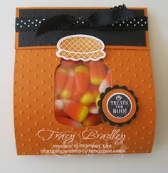 Stampin' Up!, Perfectly Perserved, Cannery Framelits, Fall, Treat Bag, Candy Corn