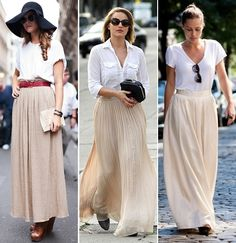 Great long neutral skirt!