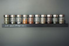 A Sleek, Wall-mounted Spice Rack