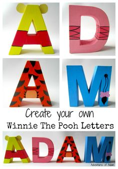 Create your own Winnie The Pool Letters. Use mache letters to make your child's name inspired by Winnie The Pooh characters. Piglet, Tigger and Eeyore are all included.