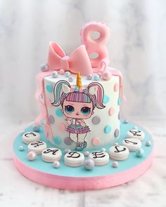Le plus à jour Totalement gratuit torta lol Populaire, Best Picture For Cake Design art For Your Taste You are looking for something, and it is going to tell you Doll Birthday Cake, Funny Birthday Cakes, Drip Cakes, Fondant Cakes, Cupcake Cakes, Owl Cakes, Lol Doll Cake, Bolo Minnie, Surprise Cake