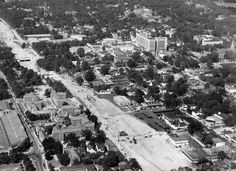 1940s view of the Downtown Connector under construction near Georgia Tech.
