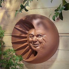 Celestial Smile Sun and Moon Plaque | Kitchen or Garden Plaque