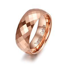 HAMANY 8mm Rose Gold Rhombic Men's Tungsten Carbide Ring Wedding Band,Size 9 HAMANY http://www.amazon.com/dp/B018ATMKF0/ref=cm_sw_r_pi_dp_Uq.ywb0KA442C