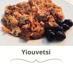 Yiouvetsi, Griekse stoofschotel met Griekse pasta. Heerrrrlijk!