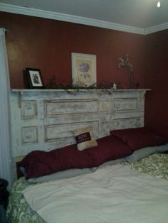 Old Closet Door Turned Into King Size Headboard