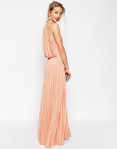 ASOS Pleat Deep Plunge Maxi Dress http://www.shopstyle.com/action/loadRetailerProductPage?id=472250272&pid=uid7609-25959603-56
