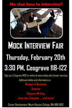 Sign Up For The Mock Interview Fair Just A Few Days Left Https