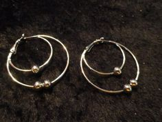 Silver Plated Hoop Pierced Earrings. FREE Shipping! No Copious fees. FREE GIFT! $4.69