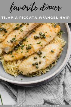 This quick and easy fish piccata recipe is one you will turn to time and again. The fish cooks in just minutes and the sauce cooks in the same pan. It's quick, it's easy and it's a real crowd pleaser. #fishpiccata #simpledinner Easy Holiday Recipes, Easy Fish Recipes, Baby Food Recipes, Easy Dinner Recipes, Fish Piccata Recipe, Food Terms, One Pan Pasta, 15 Minute Meals, Kosher Recipes