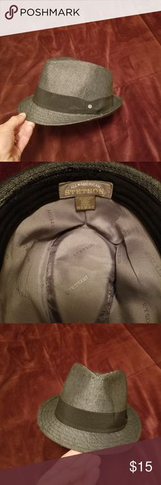 568717e85ab6e2 Stetson trilby hat. Worn twice. Size small/ medium. Should fit most,