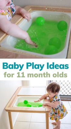 Baby play ideas at 11 months by Little Lifelong Learners. This month is all about exploring art and sensory play! I'm sharing some of our favorite simple baby play ideas for 11 month olds, including watercolor art, water play, and finger painting. Read the blog post for more ideas and inspiration for baby activities to do with your 11 month old! Motor Skills Activities, Baby Activities, Baby Play Areas, Baby Sensory Play, Painting Activities, Messy Play, Water Play, Cool Writing, Toddler Play