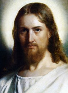 The Face of Jesus - Carl Heinrich Bloch.         Isaiah 53:6   All we like sheep have gone astray; we have turned every one to his own way; and the LORD hath laid on him (Jesus) the iniquity of us all.