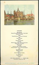 Holland america line r m s nieuw amsterdam luncheon menu card 41 holland america line r m s nieuw amsterdam luncheon menu card 41 1956 holland the nieuw amsterdam and holland amerika lijn pinterest holland publicscrutiny Image collections