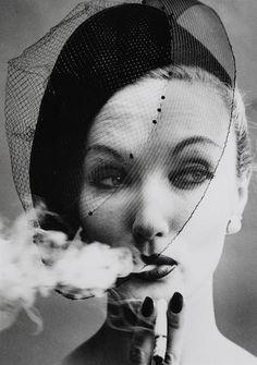 William Klein (born 1928) Smoke + Veil, Paris (Vogue), 1958  Fine Photographs Online. End 9 October 2017