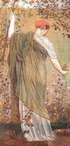 Moore, Albert Joseph (1841-1893) - 1869 A Garden (Tate Gallery, London)