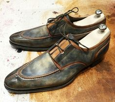 Jm Legazel -Derby patina blue jean creation