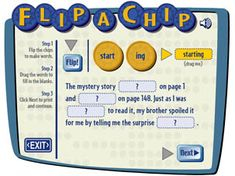 Flip-a-Chip  This is a GREAT tool for reading comprehension!  AWESOME website-lots of resources!
