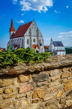 Church of St. Nicolas and the chapel of St. Wenceslas in Znojmo, Moravia, Czech Republic