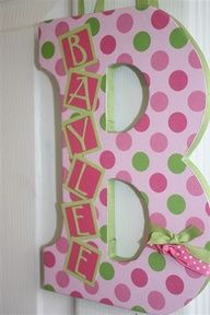 Love this idea for baby girls room! I will just make it blue for the lil guy