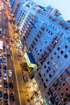Vistas de la Gran Via desde la terraza de Vincci Vía 66 4* Madrid.