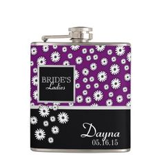 Shop Daisy Pattern Bridesmaid Flask created by tshirtmeshirt. Cool Flasks, Cool Gifts, Unique Gifts, Bachelorette Party Decorations, Daisy Pattern, Bridesmaid, Purple, Link, Special Promotion