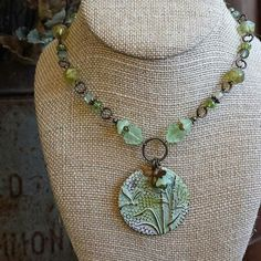 vintajco - #regram Bring on Spring! Lovely patina effect paired with beautiful linked beads, designed by @rusticriverfinds #vintaj #spring #green #patina #necklace #dragonfly #vintajco #inspirationineveryfinding
