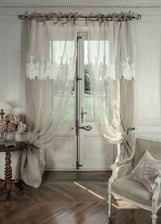 Curtains For Sliding Patio Door Gray brown curtains aesthetic.Linen Curtains With Valance cafe curtains with blinds.How To Make Curtains Flats. French Curtains, Shabby Chic Curtains, Ikea Curtains, Rustic Curtains, Curtains Living, Hanging Curtains, Bedroom Curtains, Double Curtains, Shower Curtains