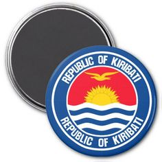 Shop Kiribati Round Emblem Magnet created by KDR_DESIGN. Personalize it with photos & text or purchase as is! Kiribati Flag, Political Events, National Flag, Dog Bowtie, Paper Cover, Art For Kids, City Photo, Magnets, Flags