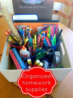 Homework supply storage - My House and Home