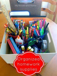 Homework supplystorage - My House and Home