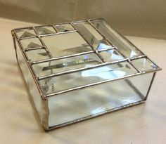 Contemporary Stained Glass Jewelry Box  Bevel by PeaceLuvGlass, $45.00